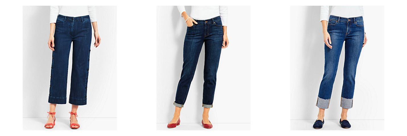 Variety of Cropped Jeans from Talbots
