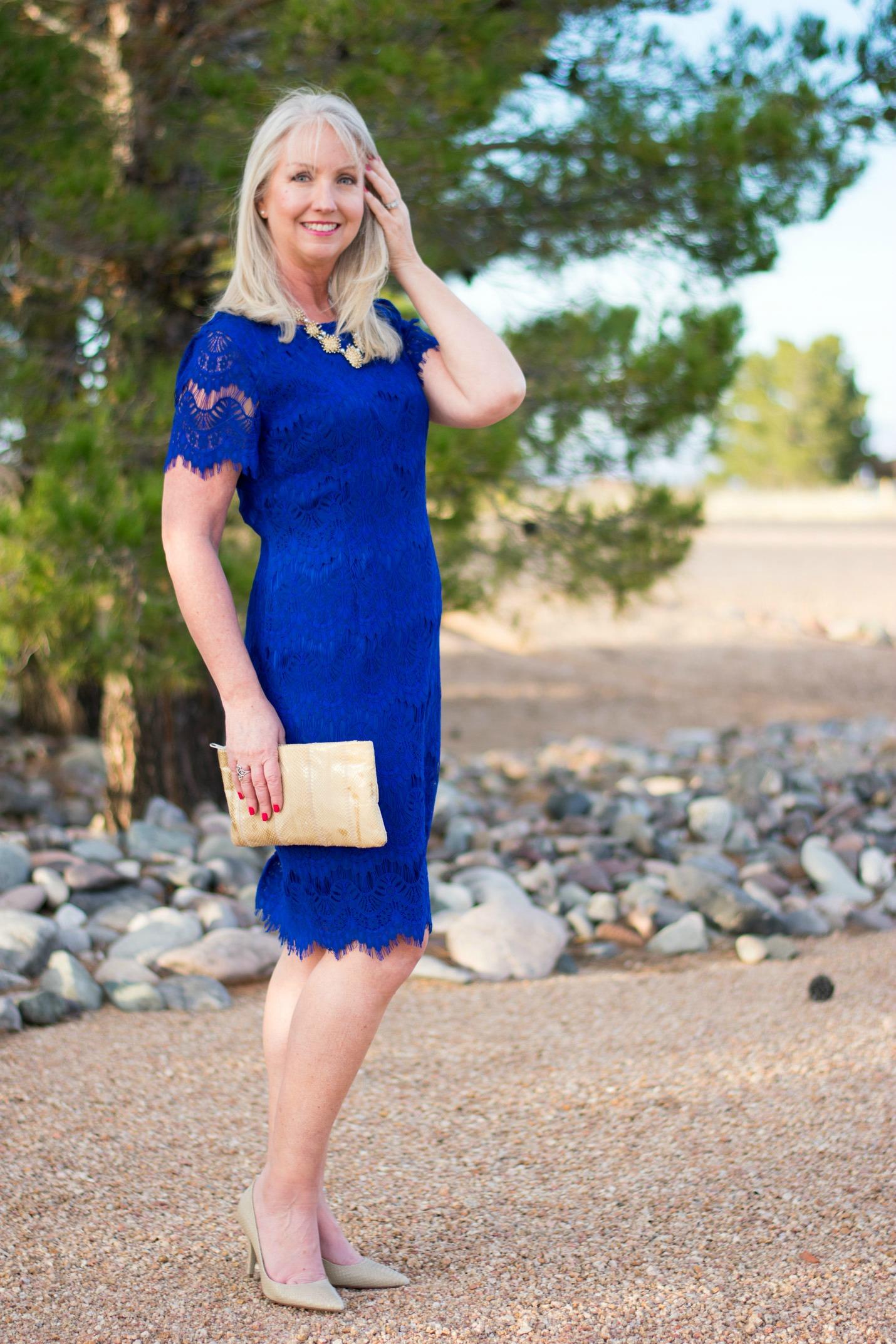 Lace Sheath Dress Image