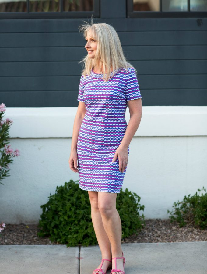 Colorful Printed Shift Dress – Simple and Pretty