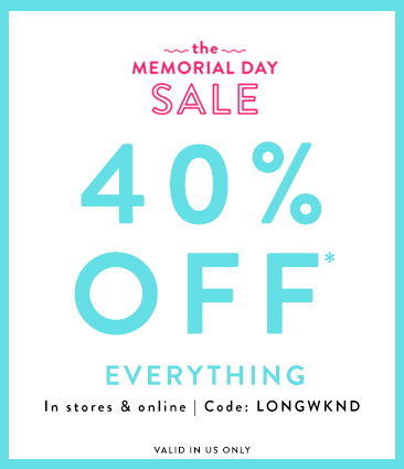 Loft Memorial Day Weekend Sale