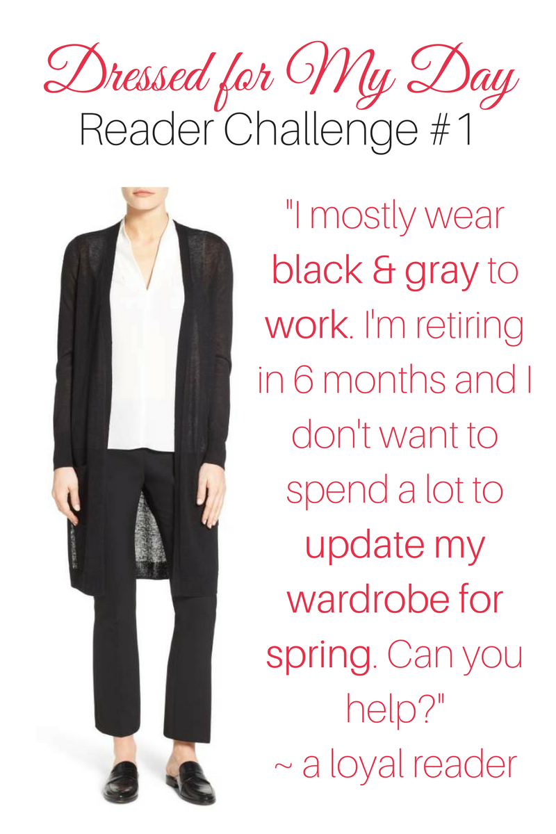 Reader Challenge Bring Black Work Wear into Spring