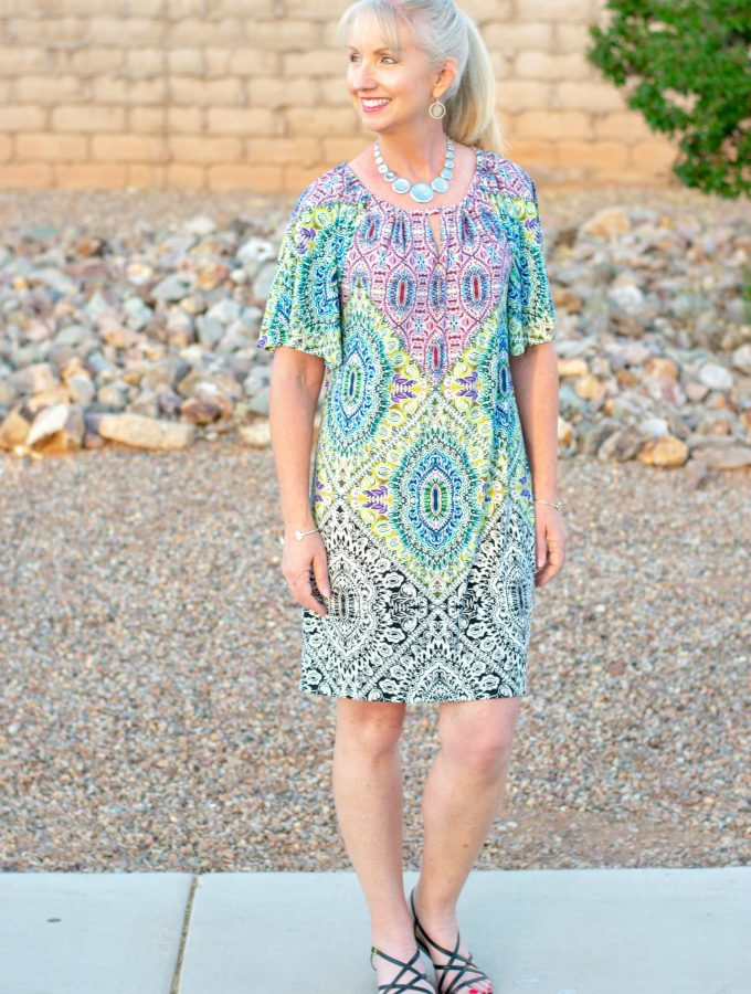 Mosaic Print Dress for Chico's for ease and style