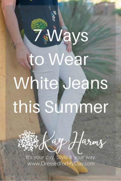 White Jeans - 7 Ways to Wear them this Summer
