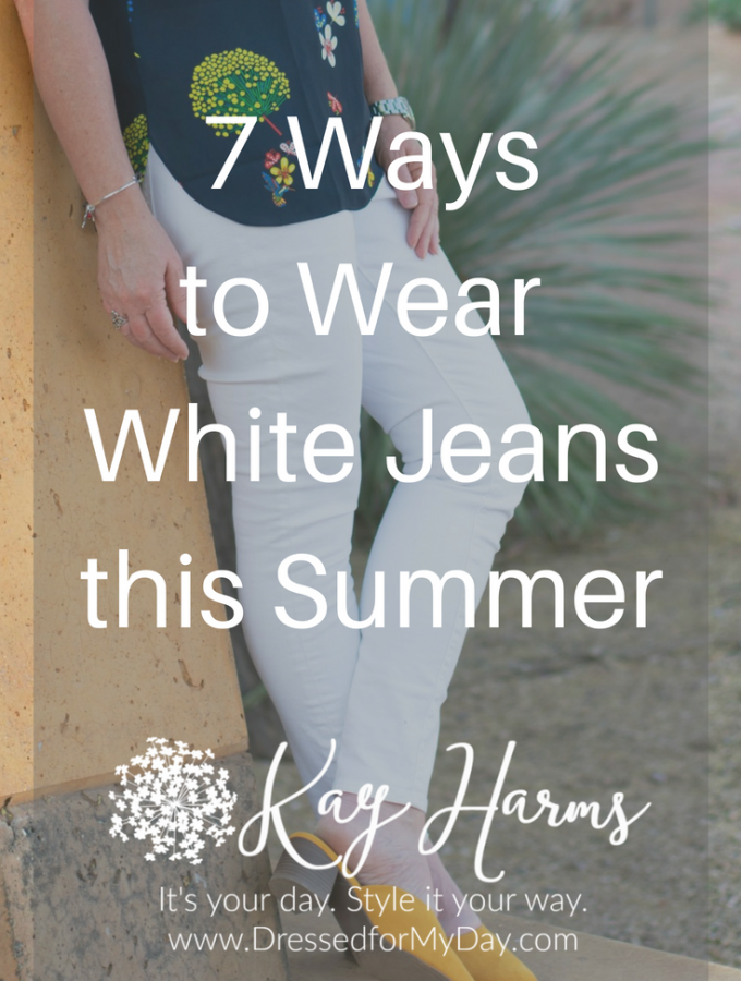 7 Ways to Wear White Jeans this Summer