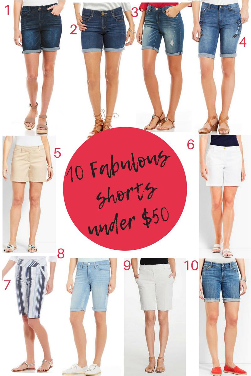 50 Fabulous Findsunder $50 - 10 Fabulous shorts under $50