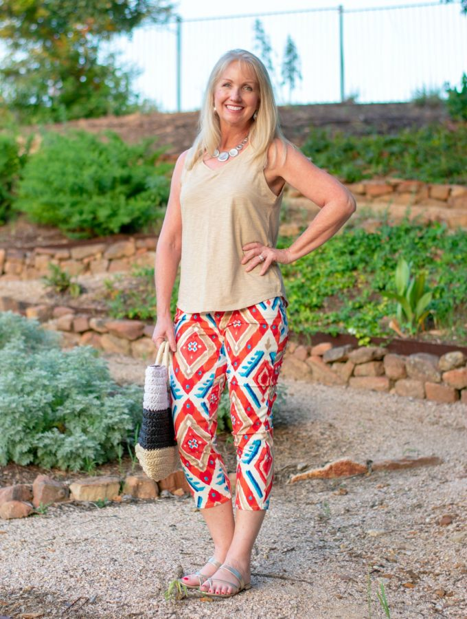 Ikat Crops and Tank Top for a Day Out