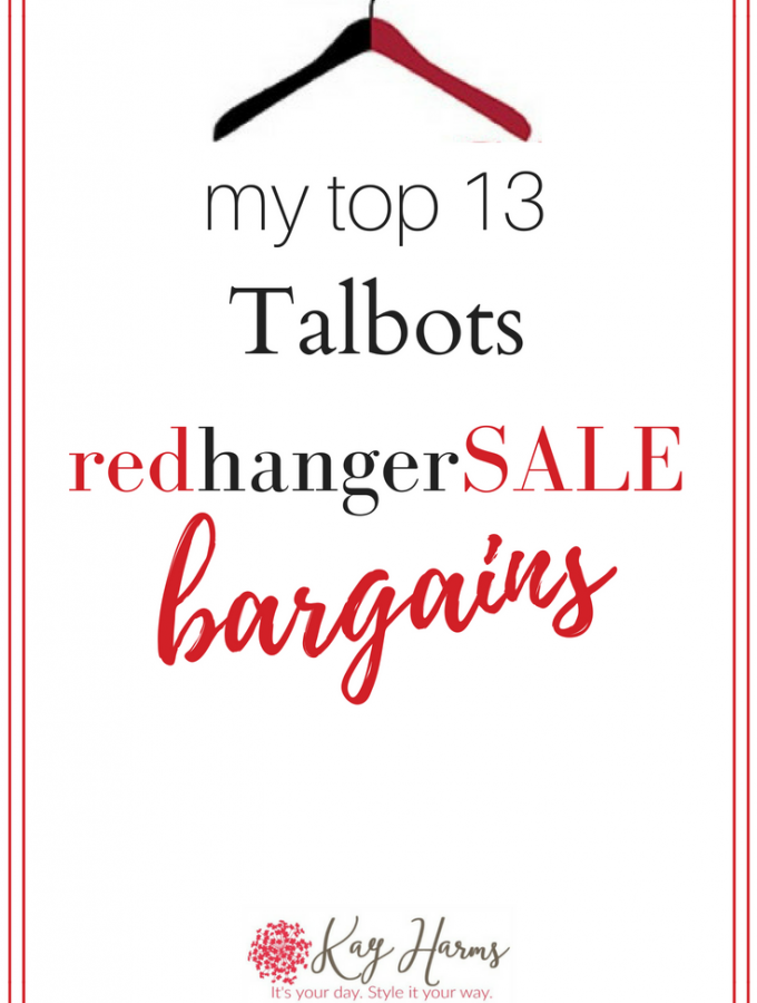 My Top 13 Talbots Summer Red Hanger Bargains