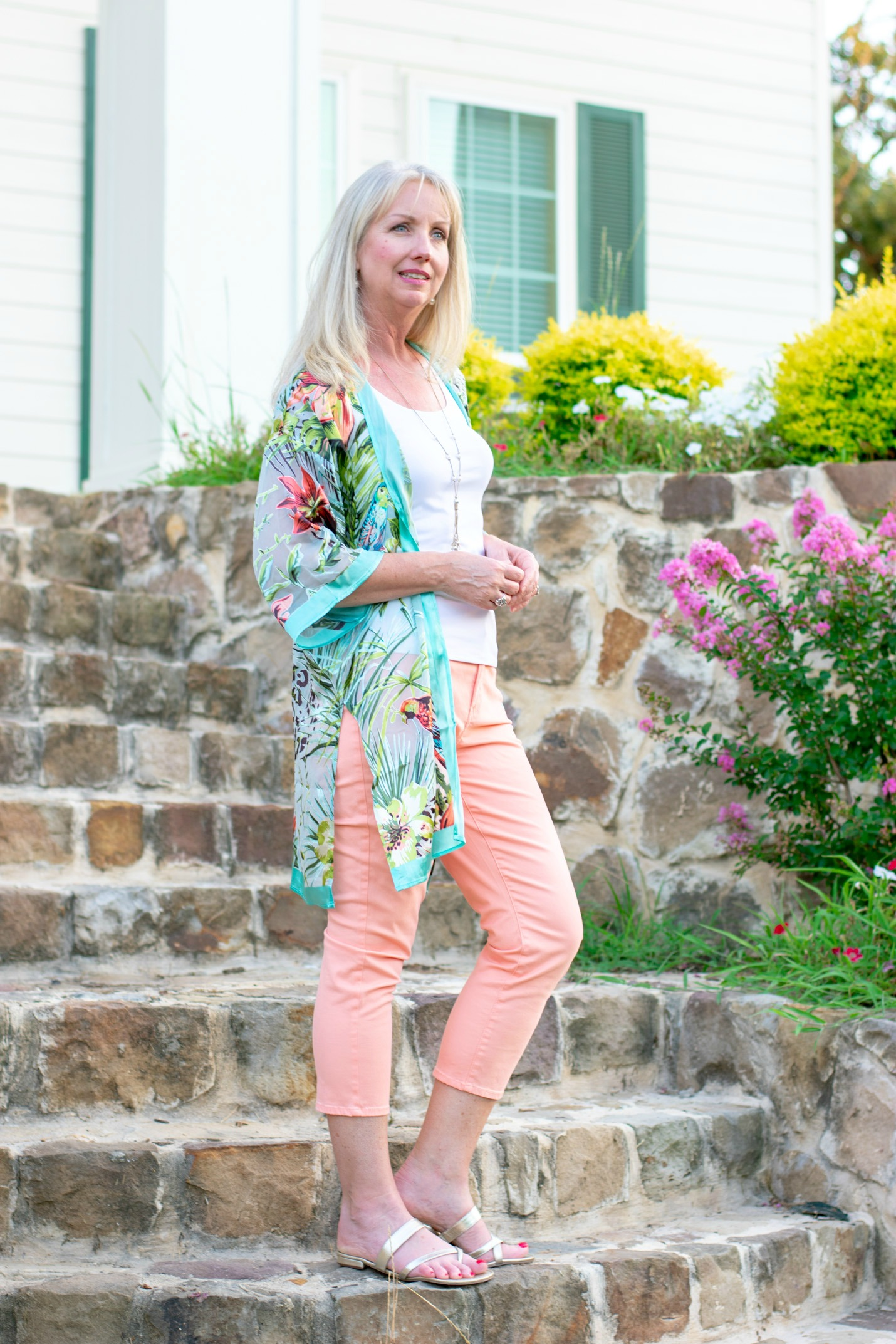 Tropical Kimono and Peach Crops