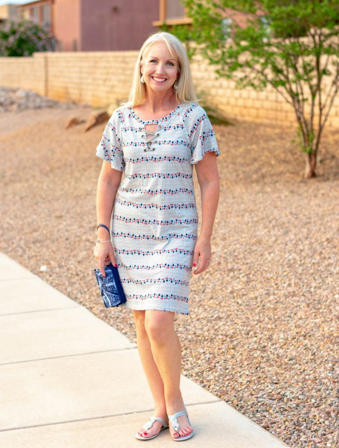 Simple Dress with Vera Bradley Crossbody