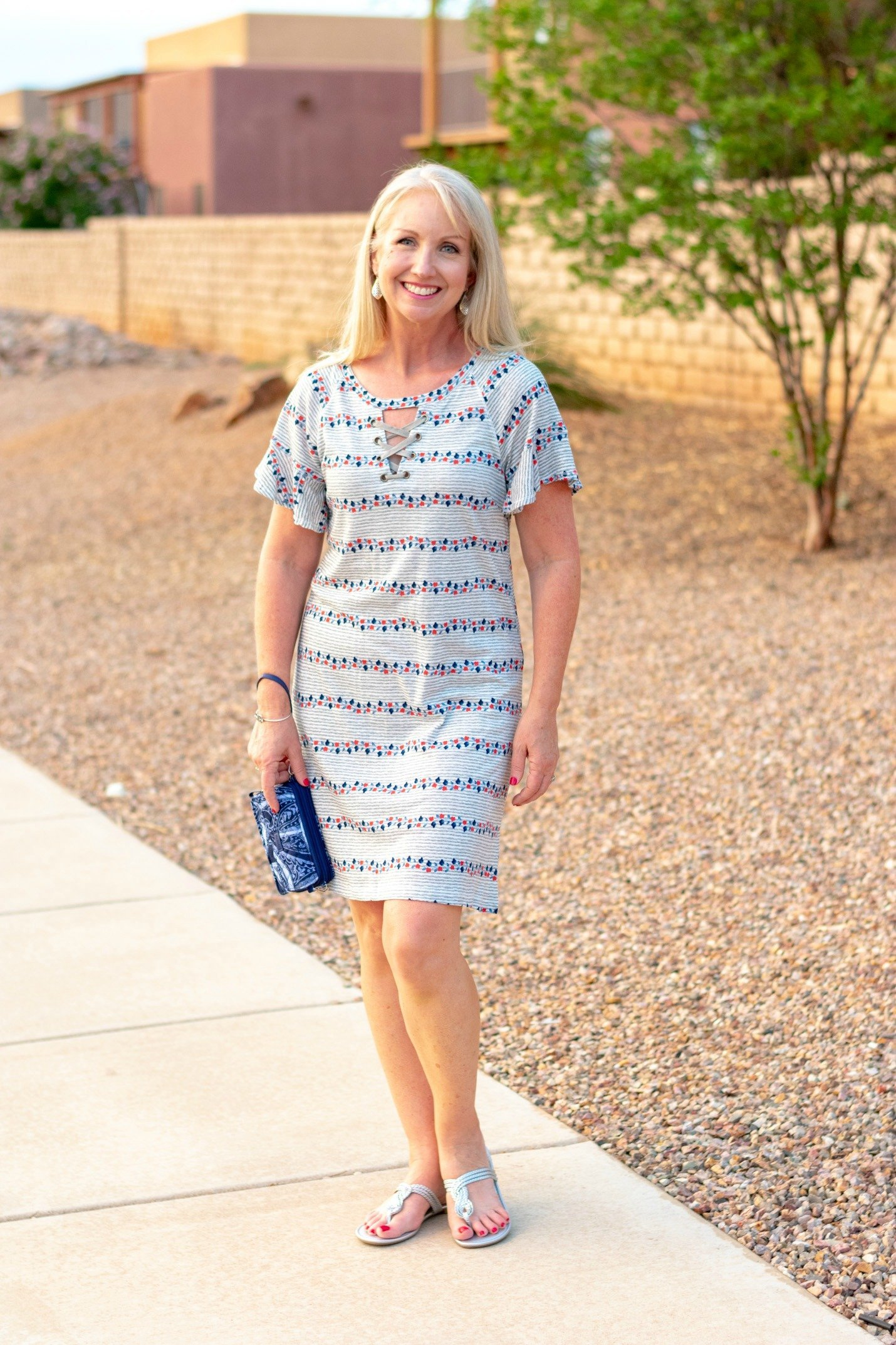 Casual Dress with Vera Bradley Crossbody