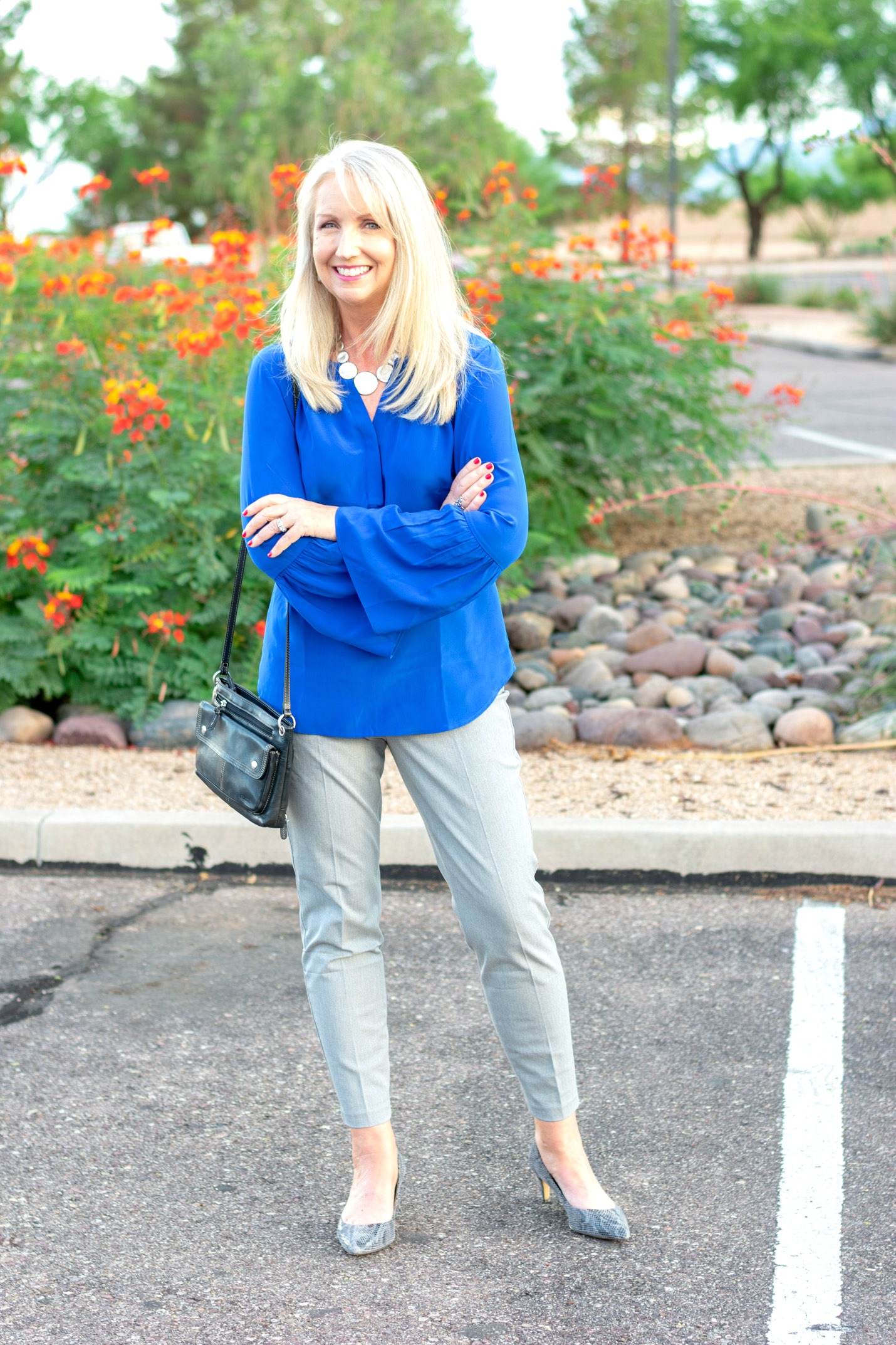 Wear to Work Blue Popover