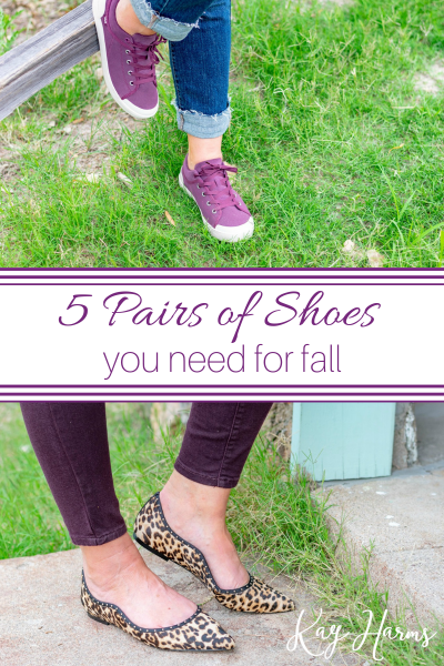 5 Pairs of Shoes You Need for Fall