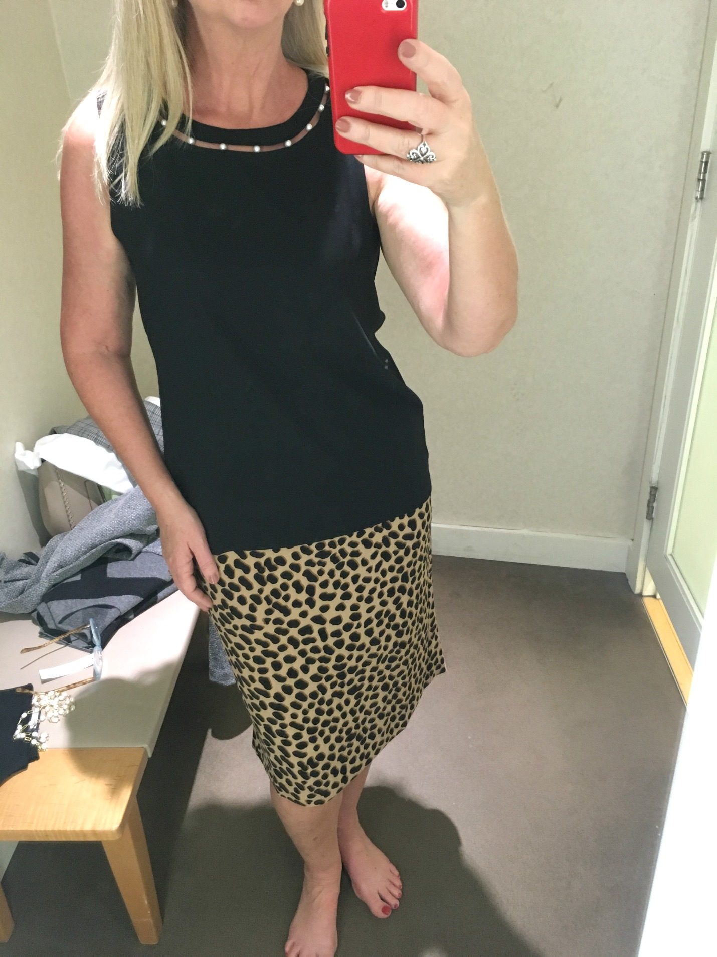 Ann Taylor Fall Career Clothing Try-On Session