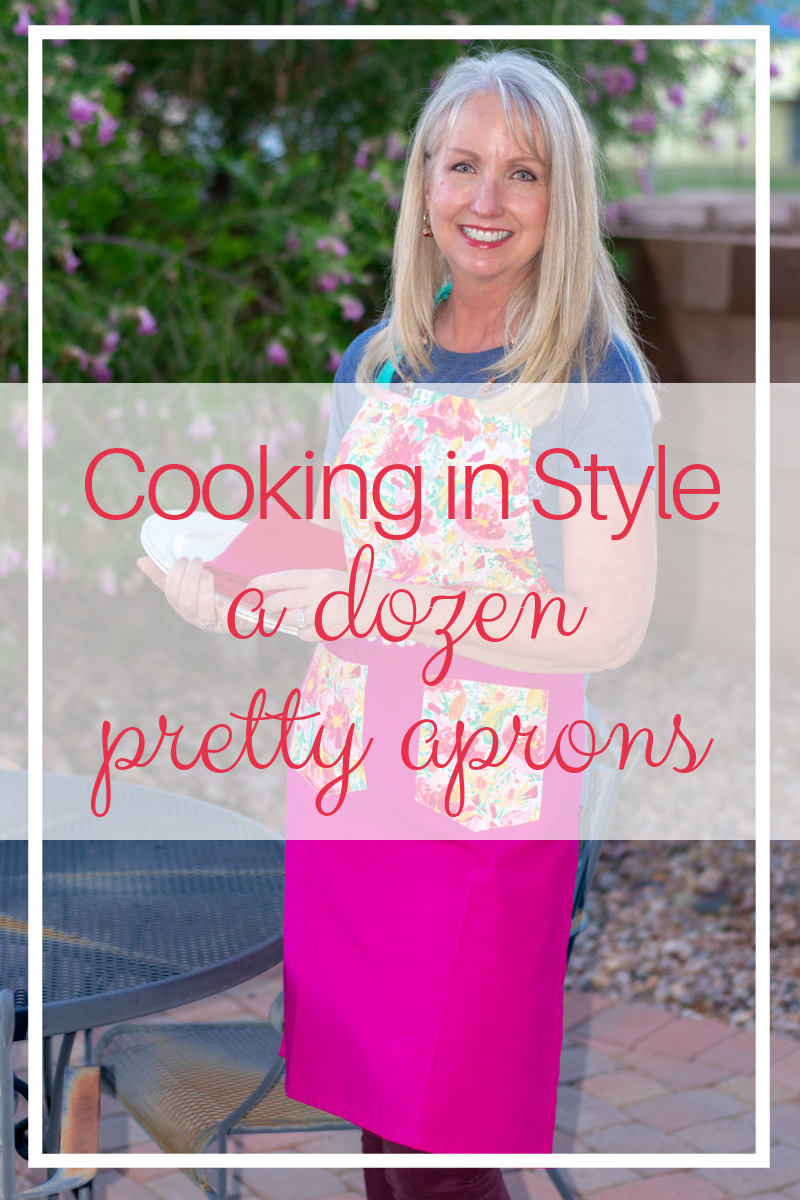 Cooking in Style - a dozen pretty aprons