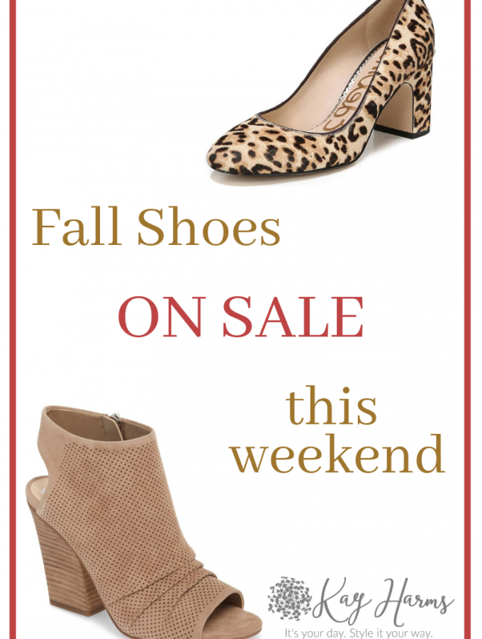 Fall Shoes on Sale this Weekend