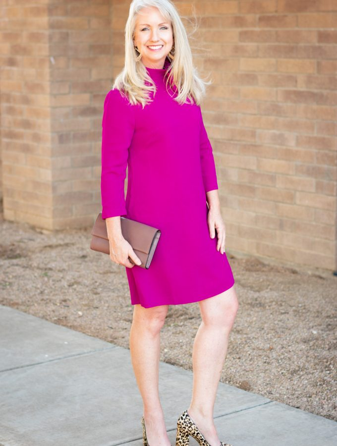 Crepe A-Line Dress + Leopard Print Heels from Trunk Club