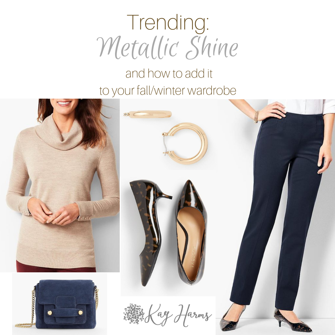 Trending this Fall Metallic