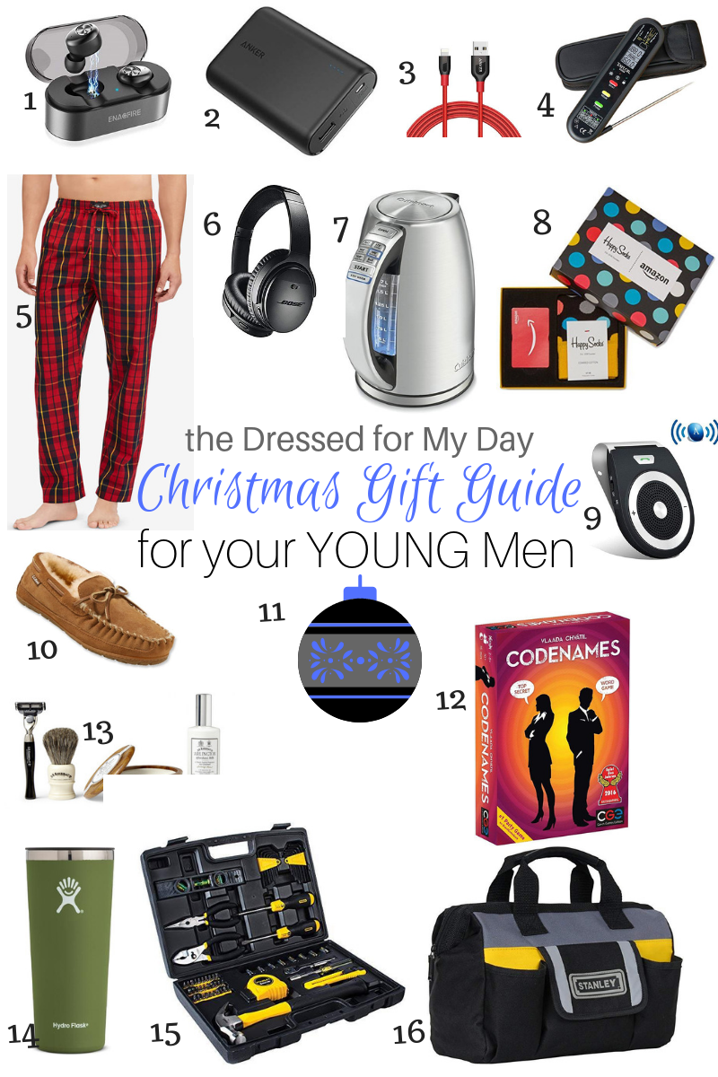 Christmas 2018 Gift Guide for Your Young Men 1-16