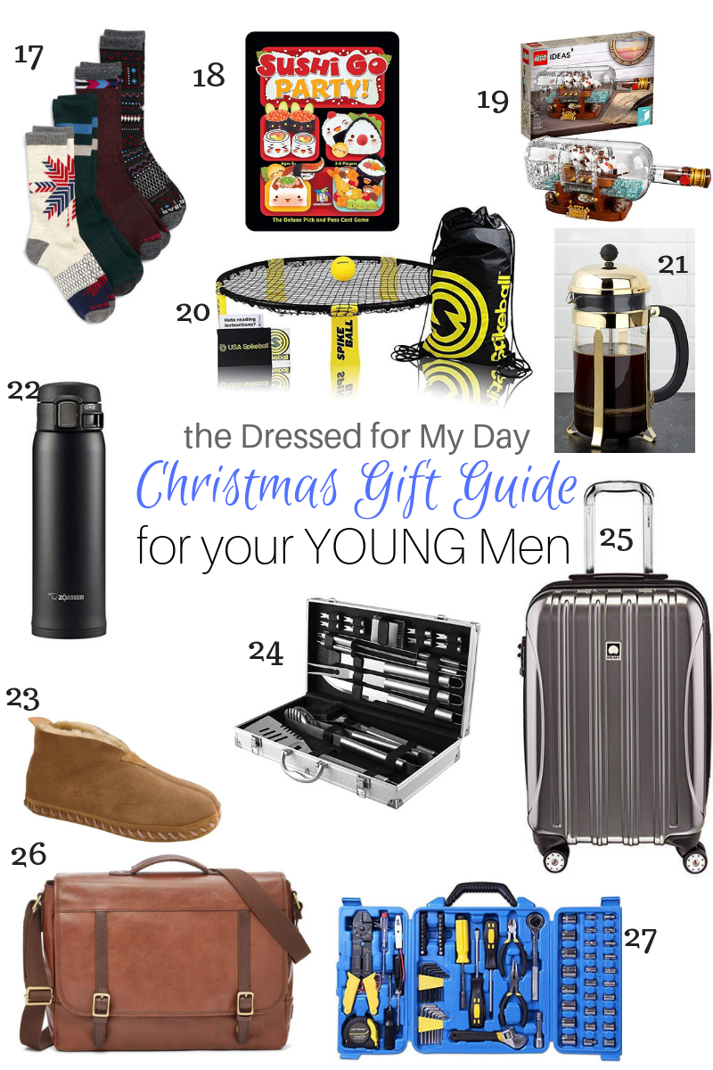 Christmas 2018 Gift Guide for Your Young Men 17-27