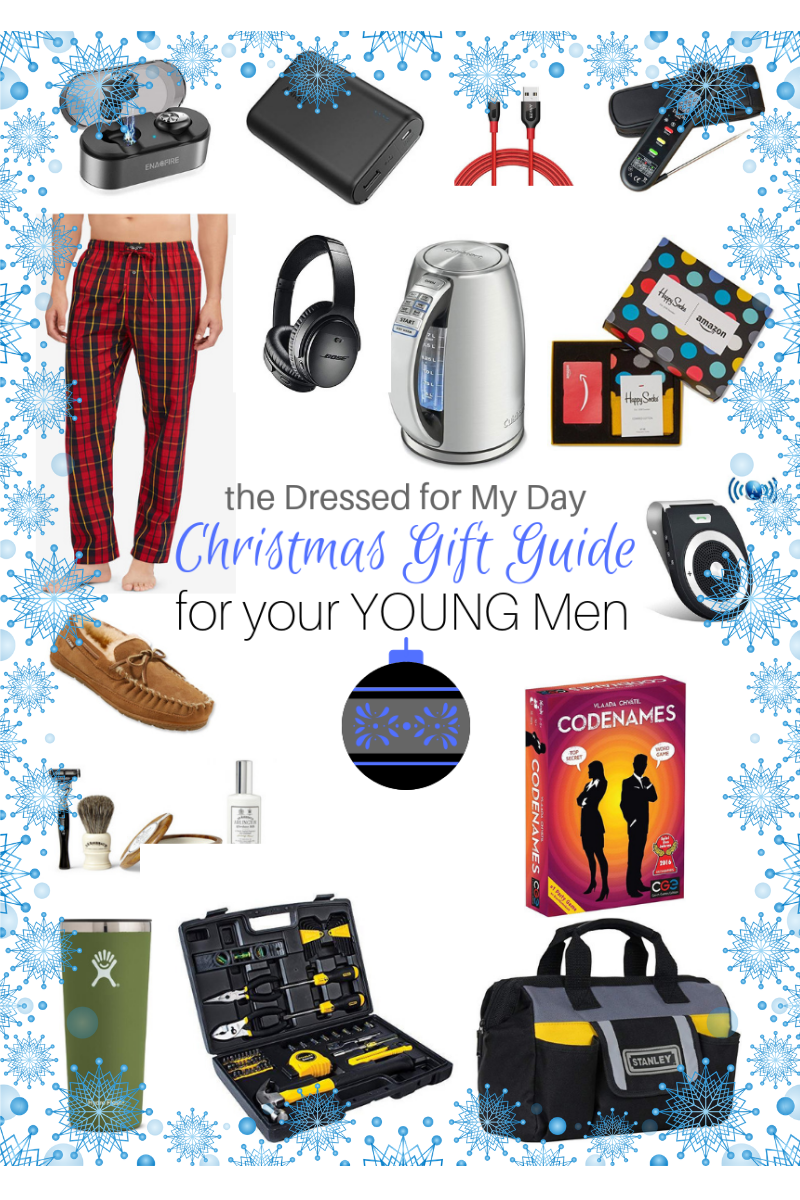 Christmas 2018 Gift Guide for Young Men - Dressed for My Day
