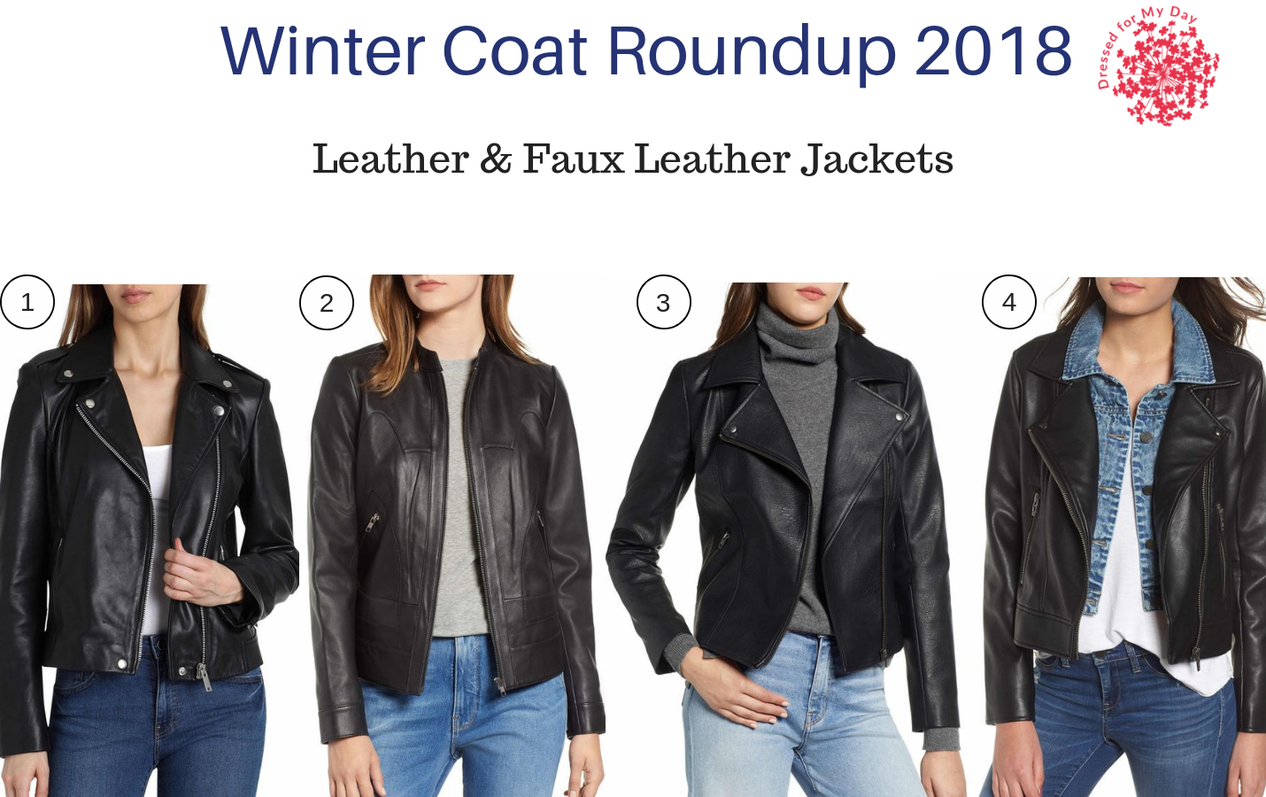 Winter Coat Roundup 2018 Leather & Faux Leather Jackets