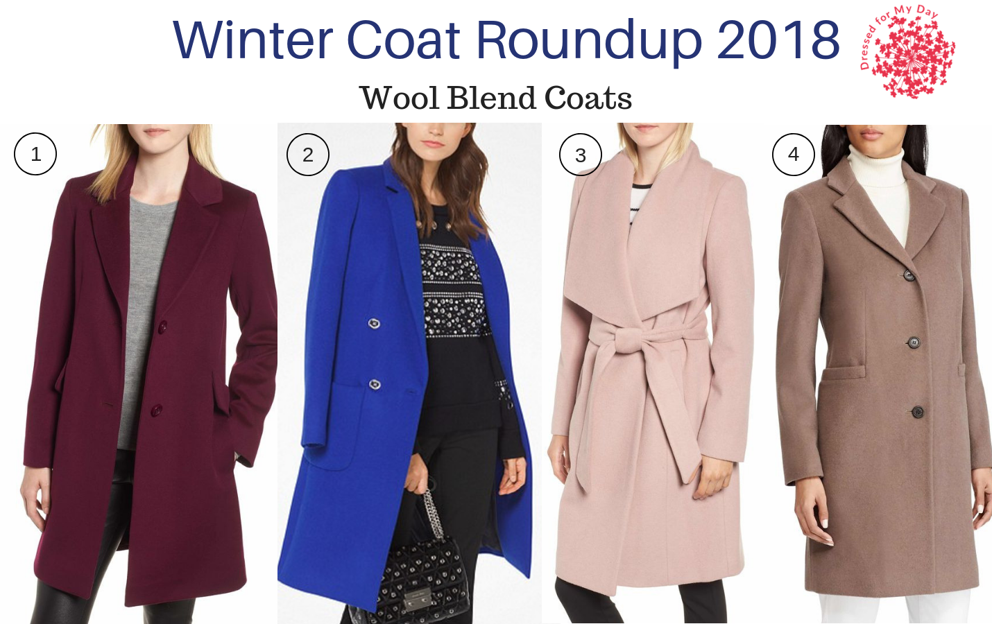 Winter Coat Roundup 2018 Wool Blend Coats