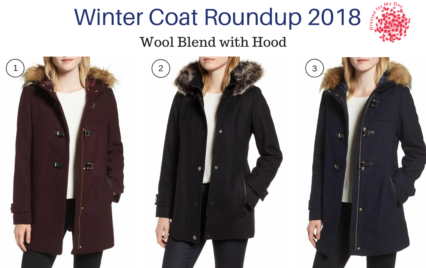 Winter Coat Roundup 2018 Wool Blend with Hood