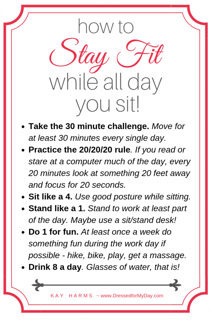How to Stay Fit While All Day You Sit