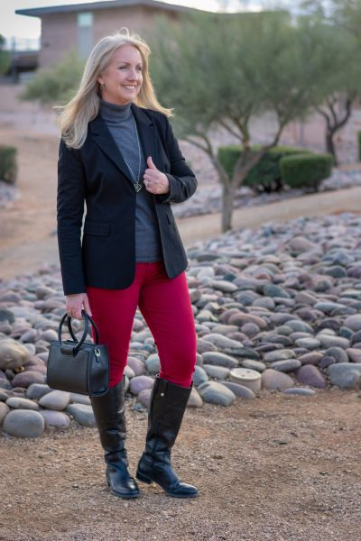 Black Blazer and Riding Boots 01