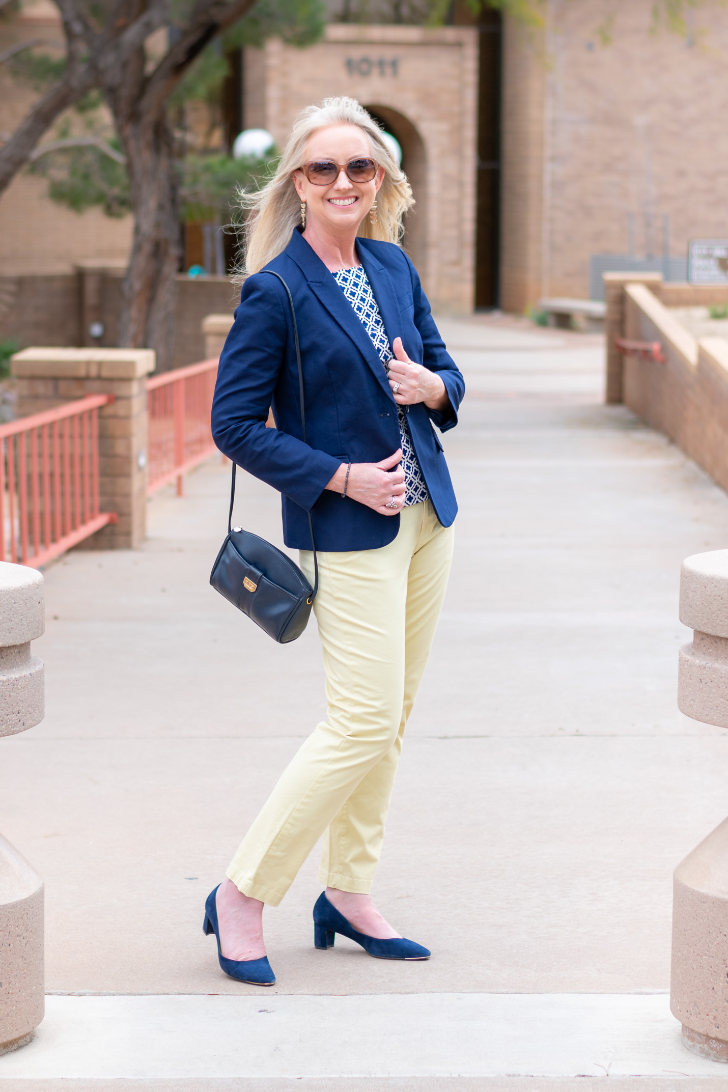 Yellow and Navy Combo for Spring