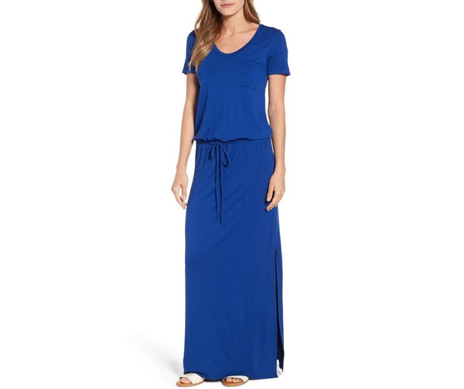 March Favorites Blue Maxi Dress