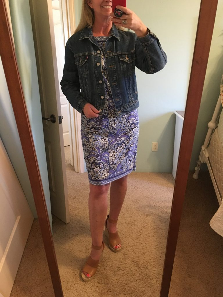 Denim Jacket with Spring Dress