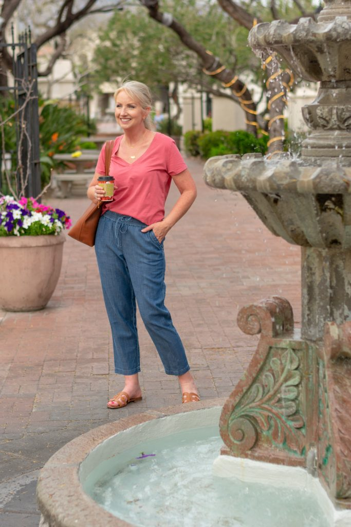 Easy Denim Ankle Pants