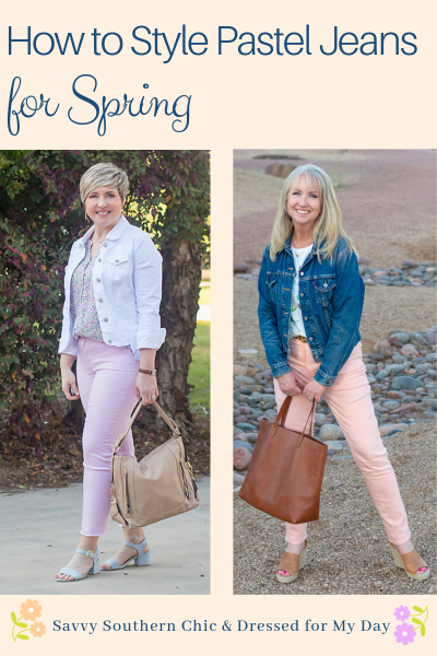 How to Style Pastel Jeans