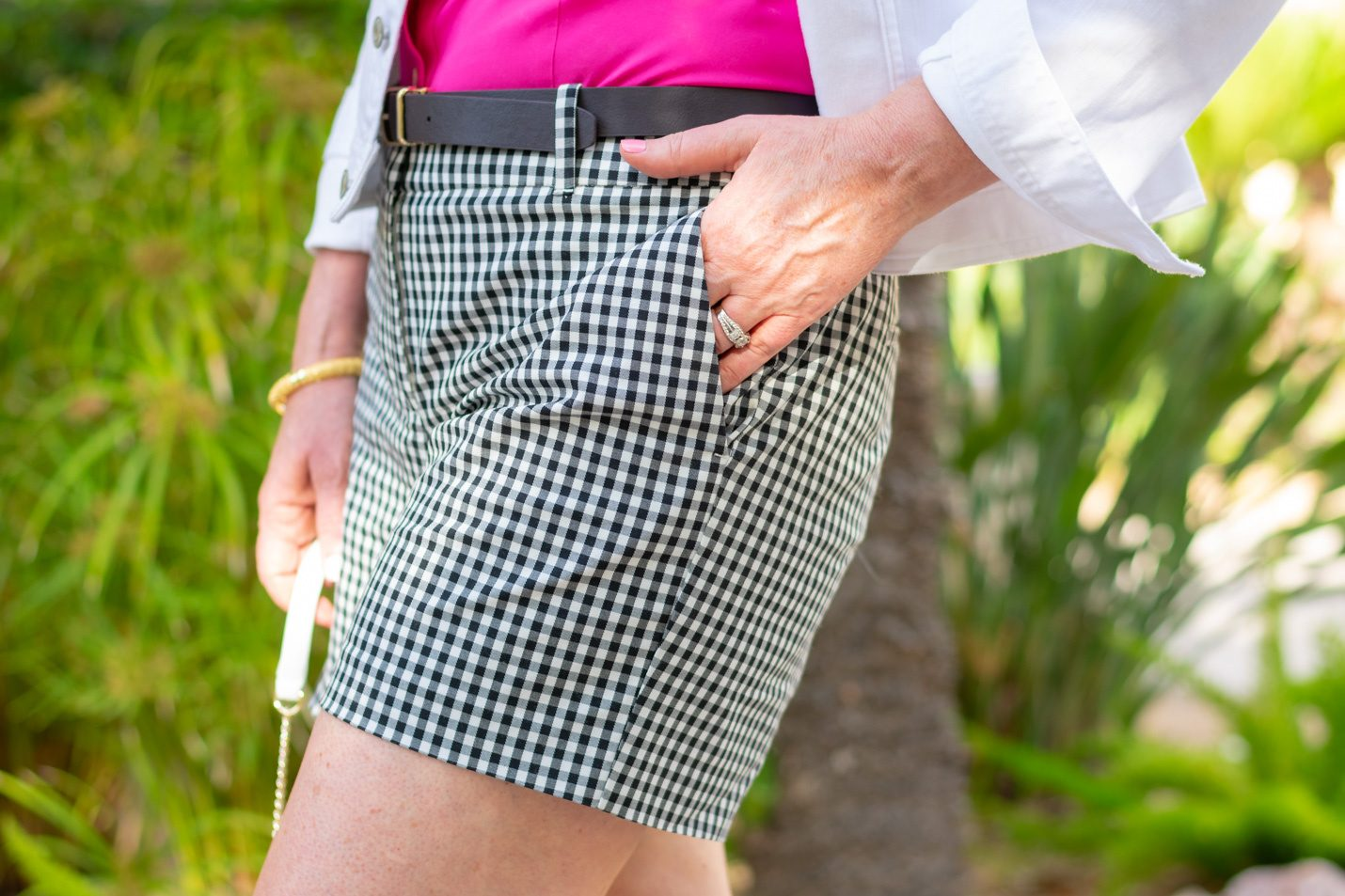 gingham shorts, also available in red