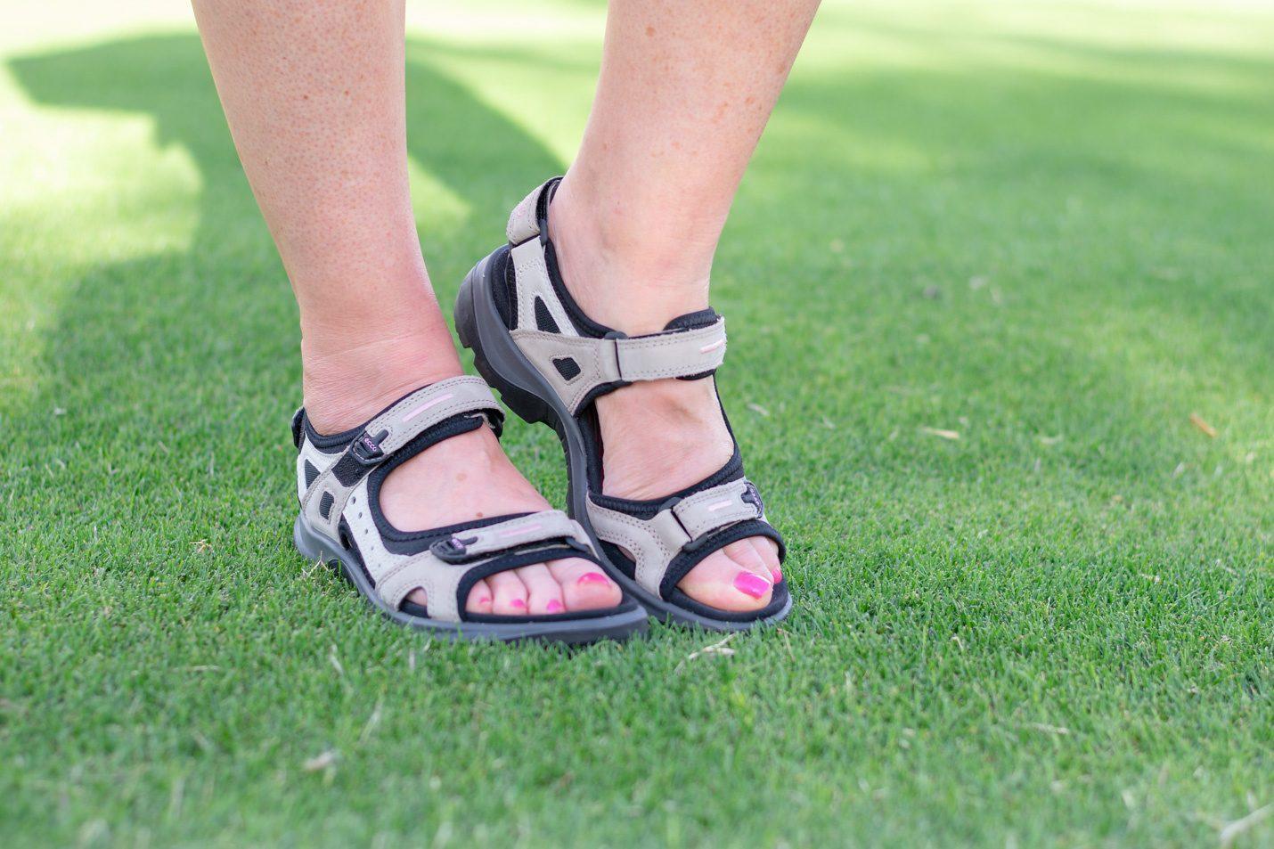 After golf sandals