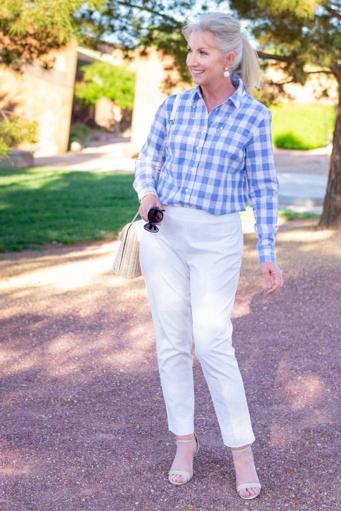 Looking Chic with Baby Blue Gingham