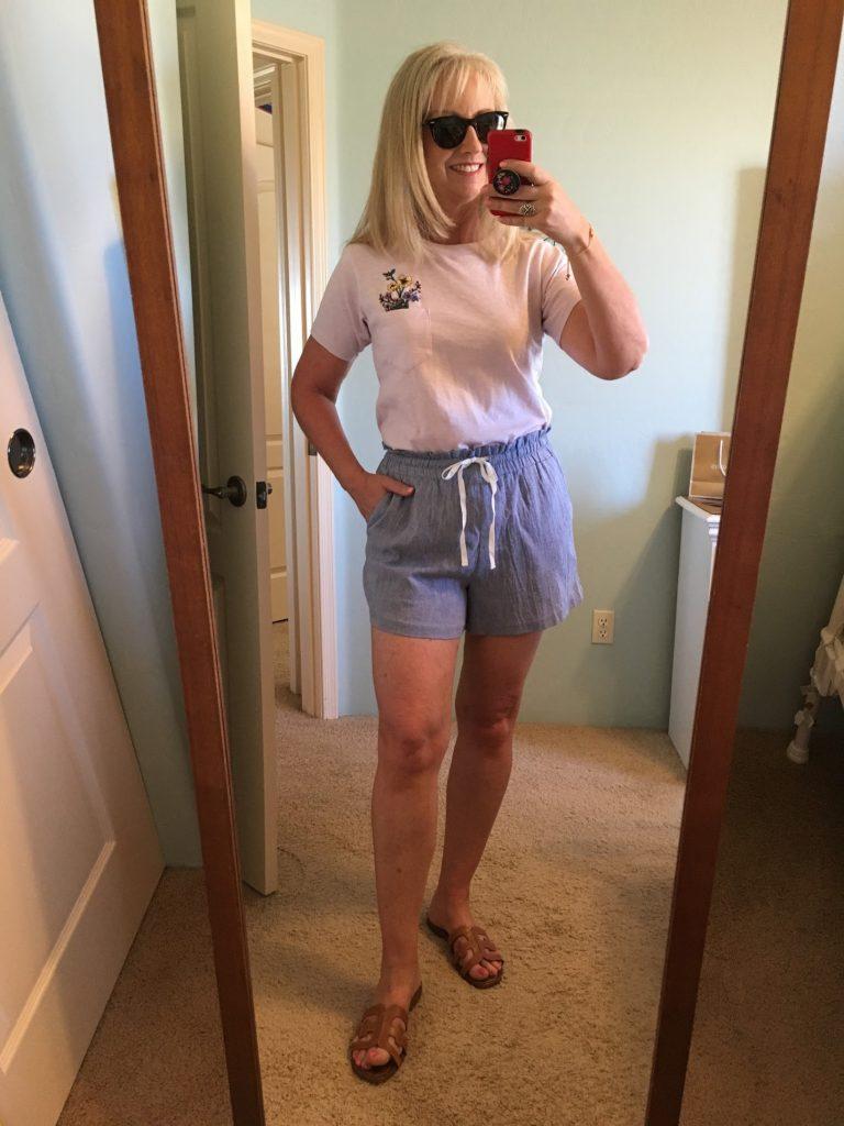 Drawstring Shorts & Tee