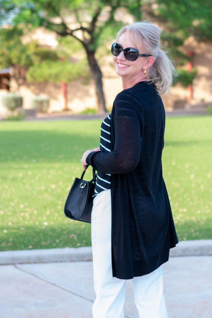 Black cardigan for summer office