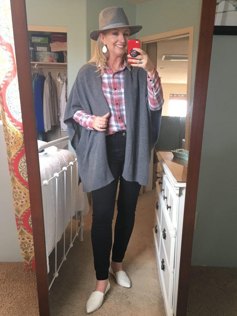 Grey Ruana Sweater