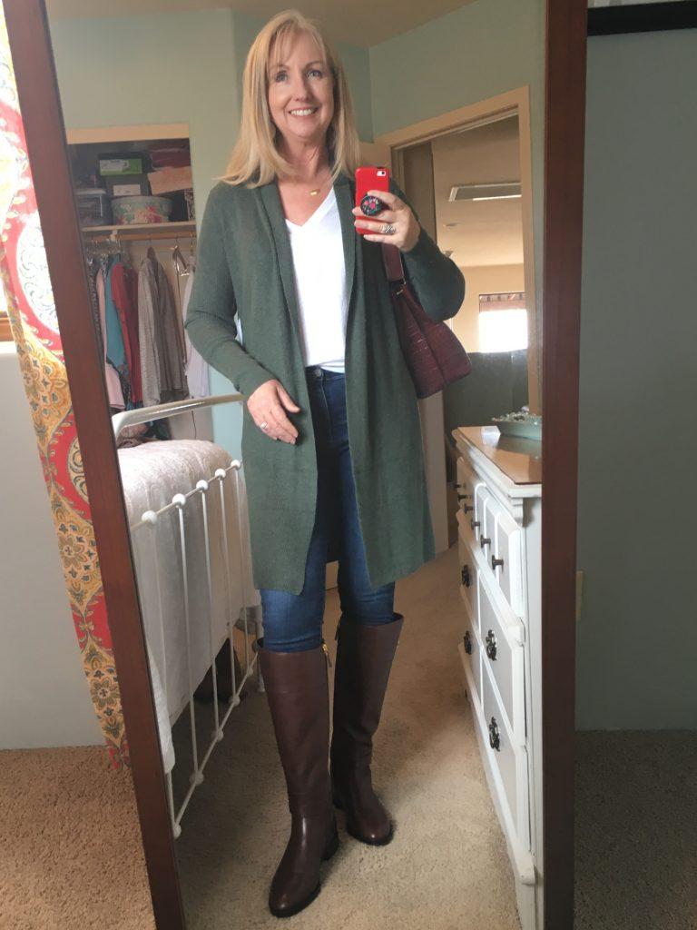 Long Green Cardigan