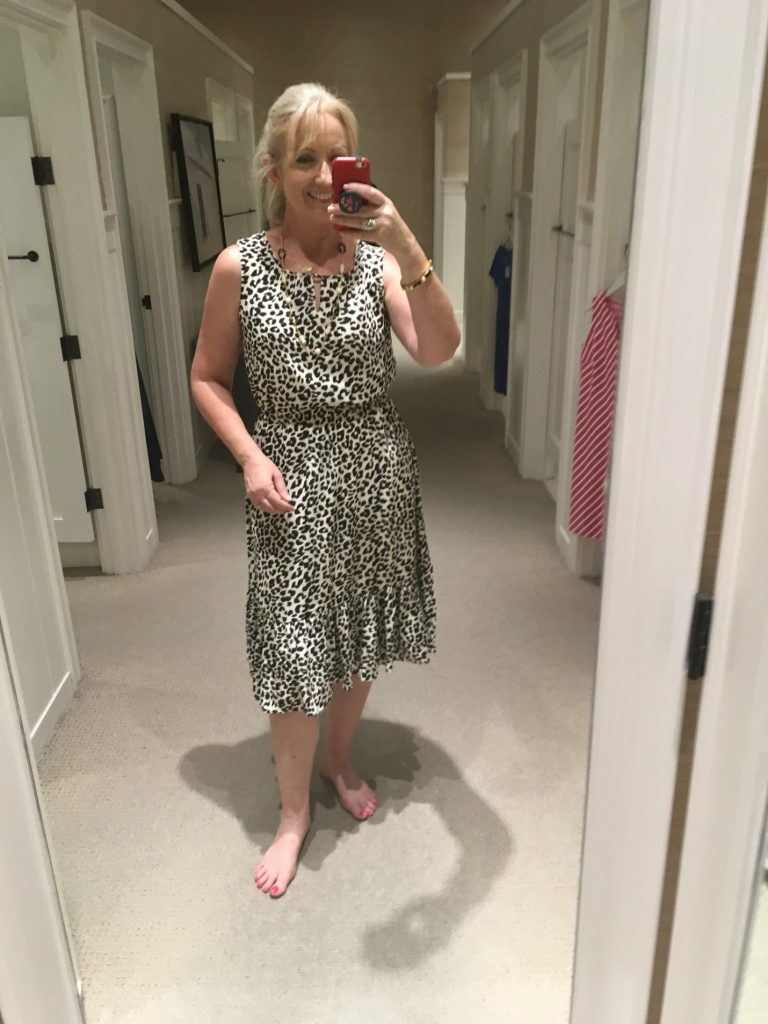 leopard print dress photo