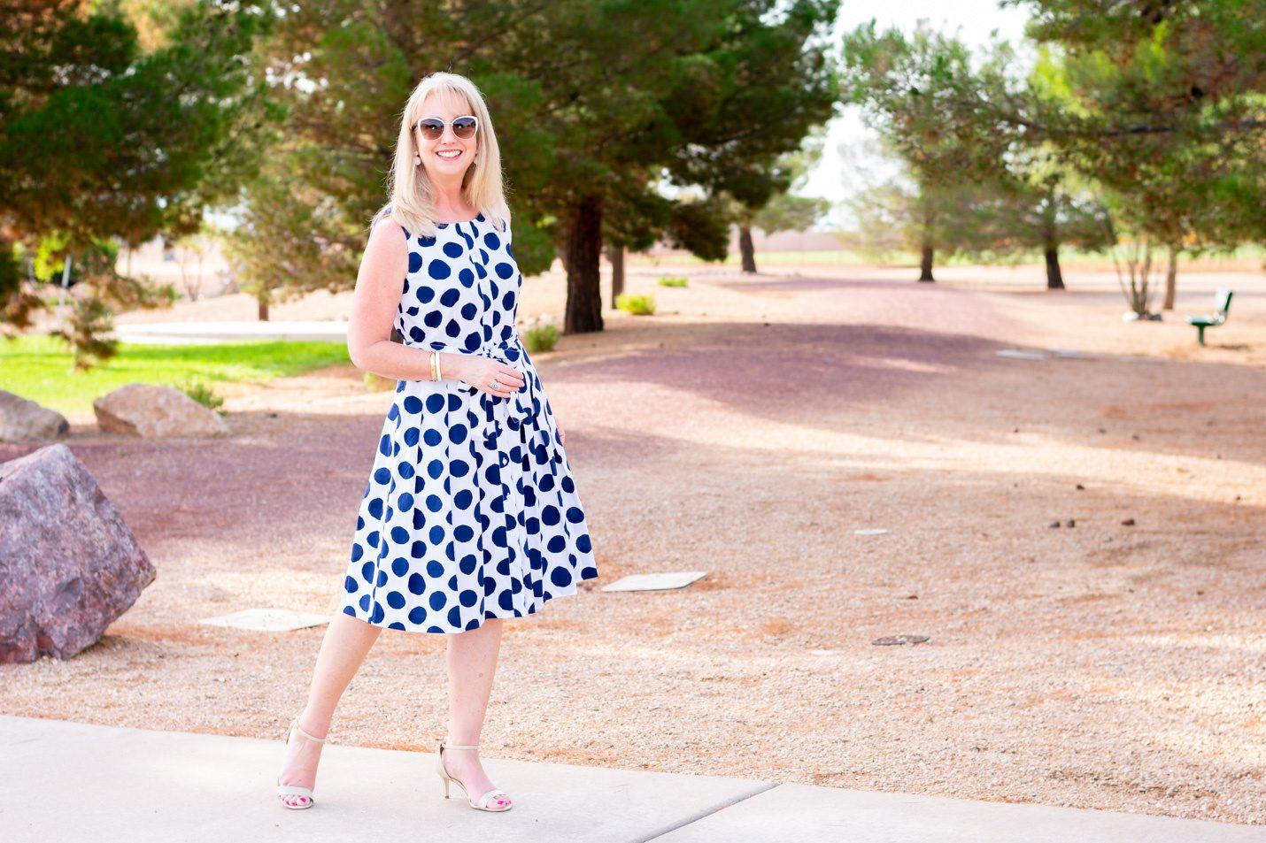 Talbots poplin shift dress