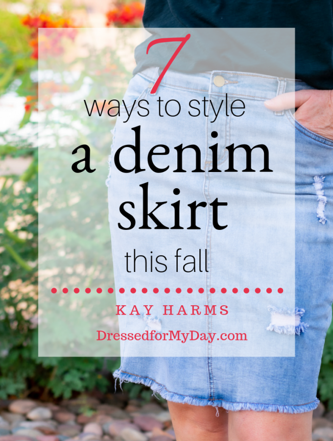 7 Ways to Style a Denim Skirt this Fall