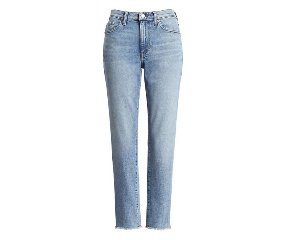 High rise Straight Fit Ankle Jeans