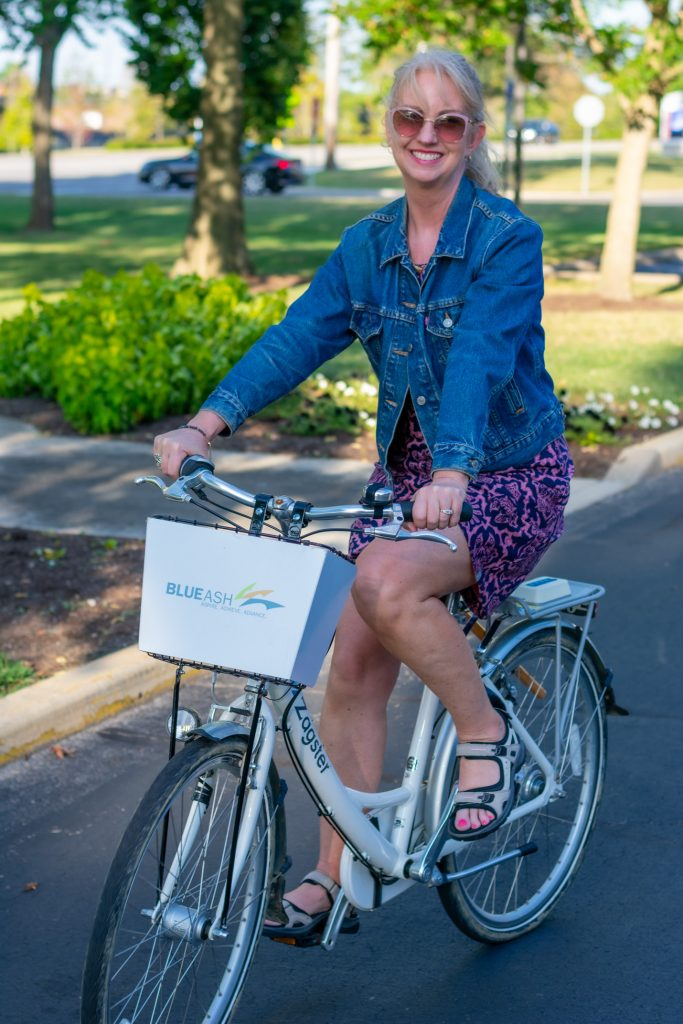 Riding a Bike in the Dream Dress