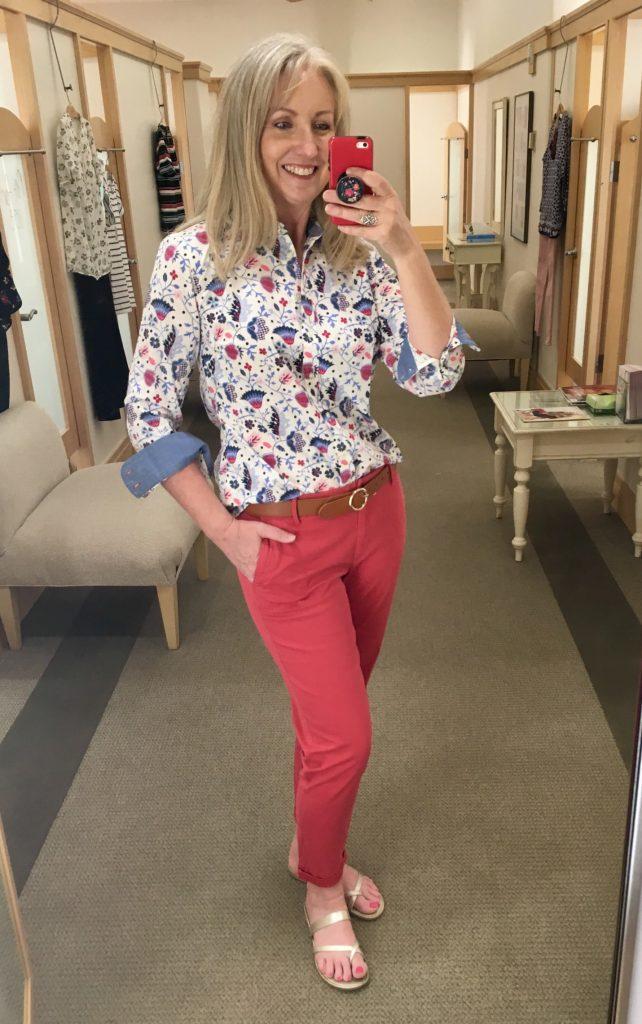 print floral shirt