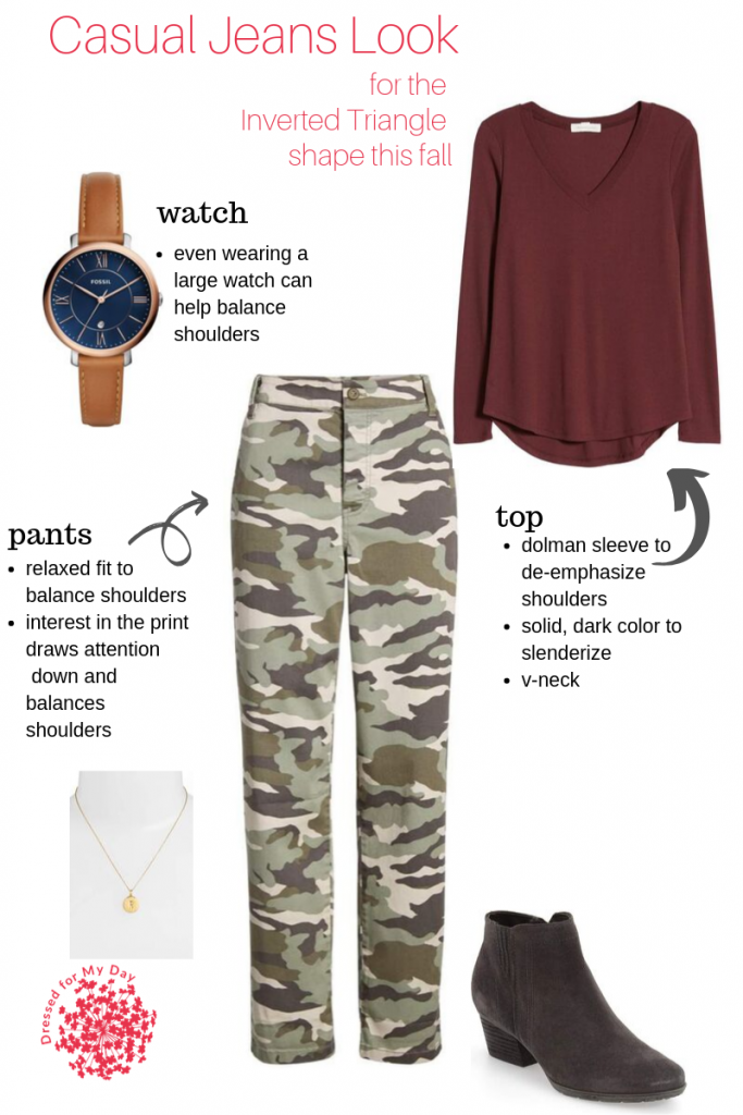 Camo Pants - Inverted Triangle Shape this Fall
