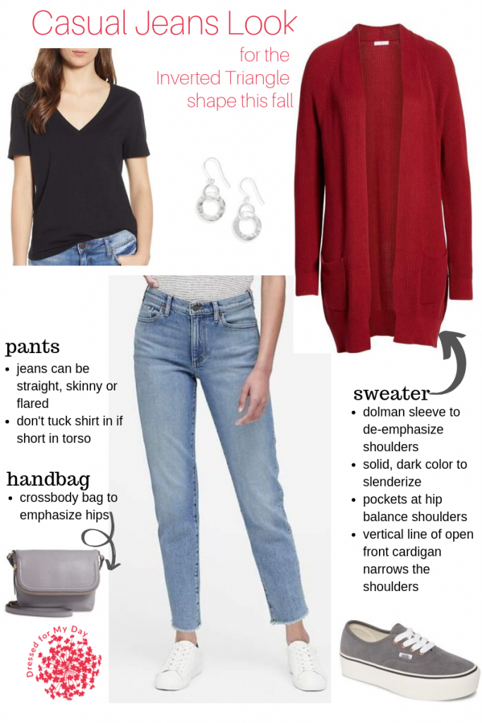 Casual Jeans Look for Inverted Triangle shape this Fall