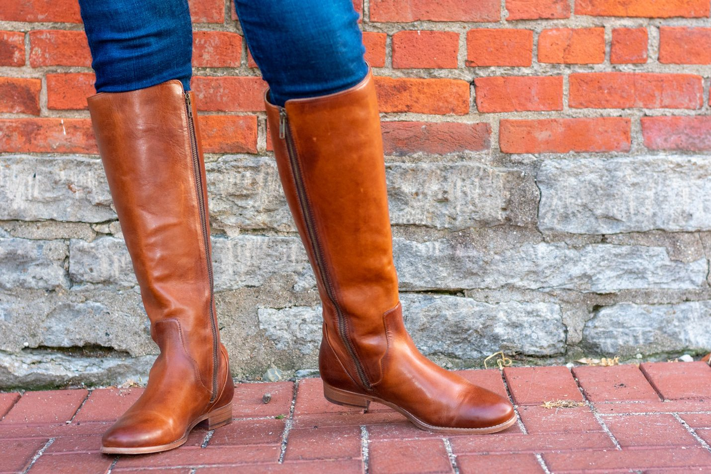 Styling Fall Colors Tone on Tone in Blue just boots